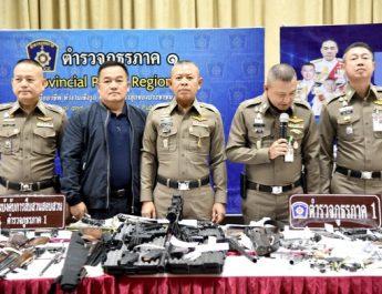ผบช.ภ.1 แถลงสั่งกวาดล้างอาวุธปืนในพื้นที่102เป้าหมาย 9 จับผู้ต้องหา 667 คน ยึดอาวุธปืน 200 กระบอก