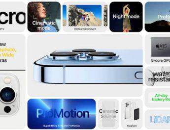 เปิดตัว iPhone 13,13 mini, 13 Pro,และ 13 Pro Max อย่างเป็นทางการ